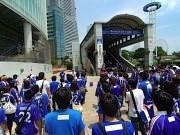 横浜F・マリノスサポーターが緊急援助物資を収集-マリノスタウンで