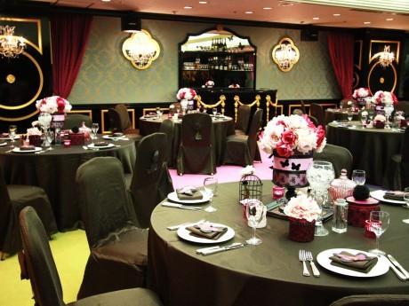 パブリックビューイングを開催するホテルプラムの宴会場「MAGIE」