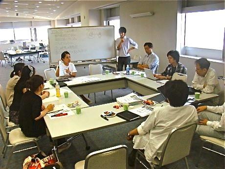 昨年度、横浜で行われた「社会起業塾」キックオフ合宿の様子