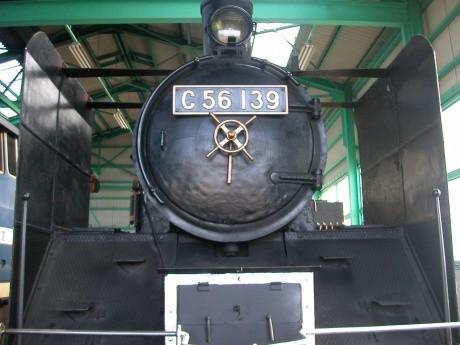 通常は一般公開していない蒸気機関車「C56」の見学や試乗体験ができる