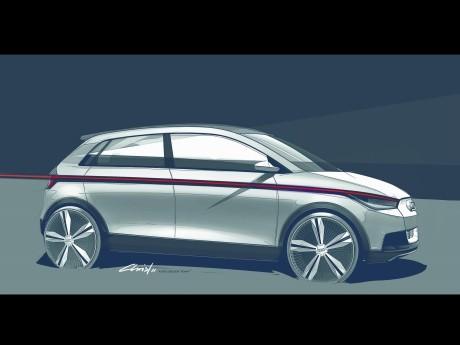 第64回フランクフルト国際モーターショーで発表したEVコンセプトカー「Audi PR-11-088」