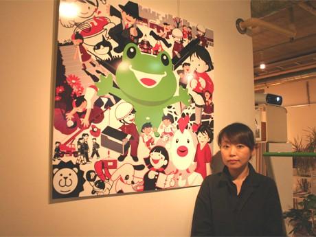 これまで手がけたキャラクターが勢ぞろいした作品と加藤朋子さん