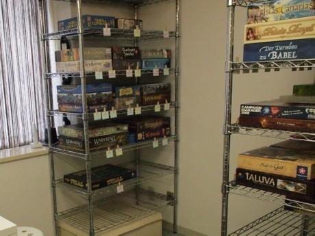 「ボードゲームリサイクルCUBE」店内の様子