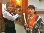 講談師・宝井琴柑さんが屋上バー「The Bar Tenmar」で金環日食講談