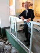 幕末の史跡「神奈川台場」石垣遺構、マンション内資料室で公開