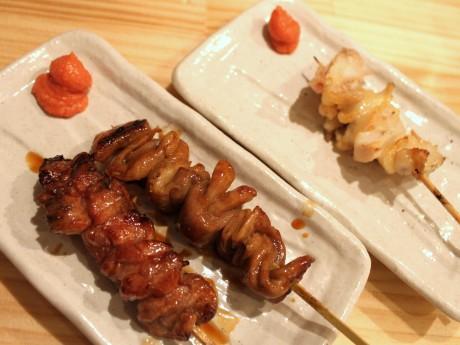 新鮮な串焼きメニューはおすすめのタレで提供