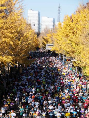昨年の「横浜マラソン大会」の様子