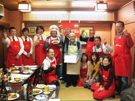 洋食店「レストランすいれん」日本ナポリタン学会認定式の様子
