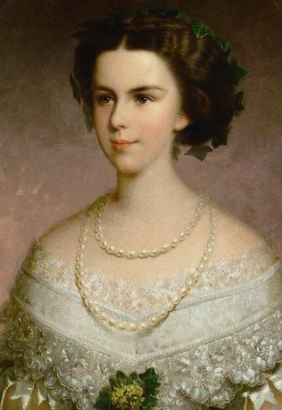 フランツ・ルス《若い皇妃》(部分)1855年頃 ウィーン・ミュージアム蔵