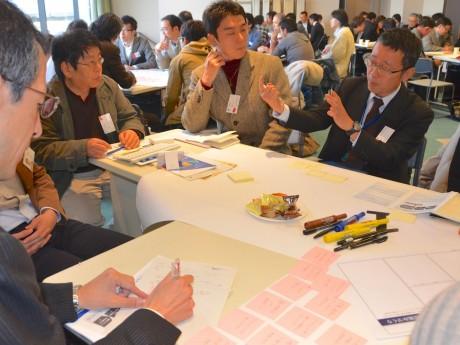 1月13日に行われた「横浜のアートと観光をオープンデータで盛り上げよう!アイディアミーティング」の様子  に行われた「オープンデータハッカソン」の様子