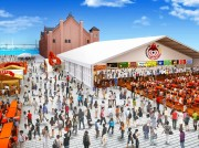 赤レンガで「フリューリングス フェスト」初開催-25mの巨大ビールカウンター