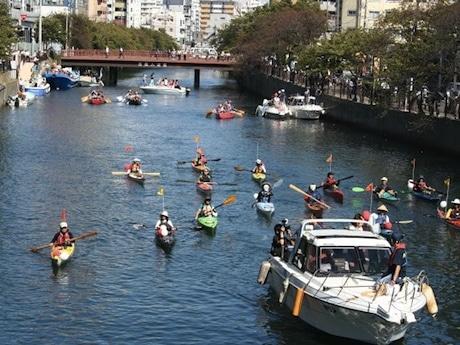 「第1回横浜運河パレード」の様子