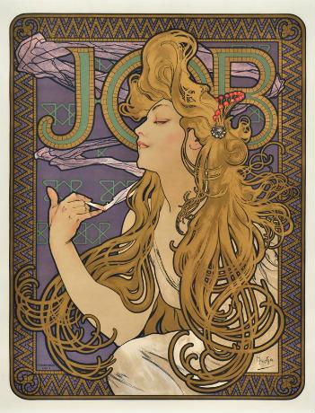 アルフォンス・ミュシャ《ジョブ》1896年 リトグラフ チマル・コレクション