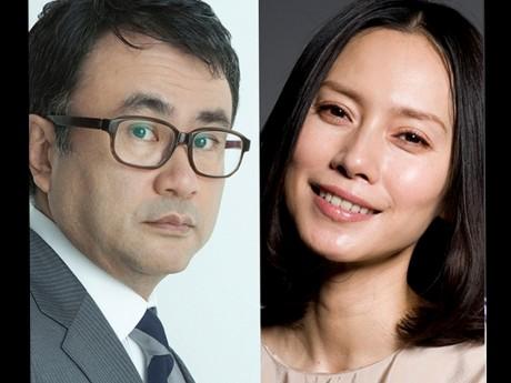 三谷幸喜さん(左)、中谷美紀さん