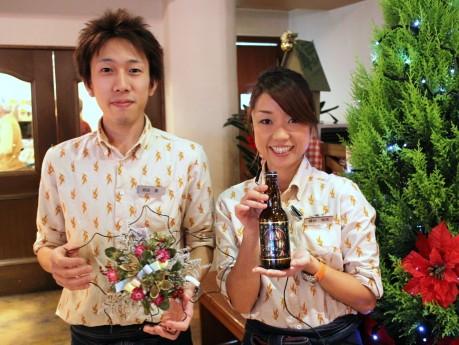 横浜ビールスタッフの須田薫さん(左)、横山知美さん