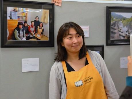 鎌倉幸子さん(写真展「大槌の宝箱」横浜展会場で)