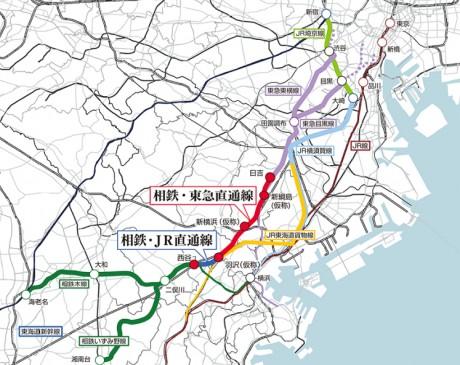 都市鉄道利便増進事業 神奈川東部方面線(相鉄・JR直通線、相鉄・東急直通線)