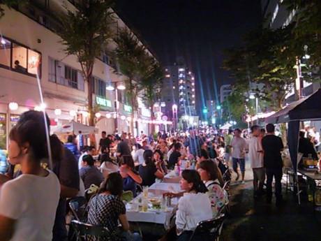 昨年の「吉田町アート&ジャズフェスティバル」の様子