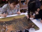美術品の修復で社会貢献-横浜のNPOが修復教室を毎週開催