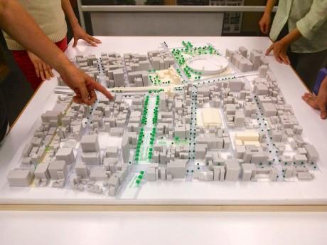 関内駅・大通り公園周辺の模型