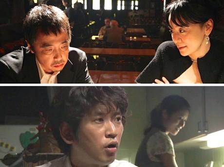 横浜を舞台にした「Life works」では中華街のバーが舞台の「お前と俺」(上段)、ドリームハイツの一室で撮影した「ともだち」(下段)など市内各地でロケ撮影をした