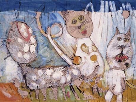 第8回カナガワビエンナーレ国際児童画展(1995年)大賞作品「猫(Cat)」カトカ・クレノトーバさん(チェコ、7歳)