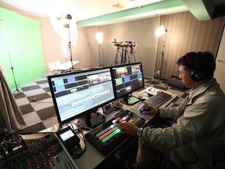 クロマキー撮影が可能な動画スタジオ