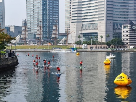 「YOKOHAMA OPEN SUP RACE 2014」の様子