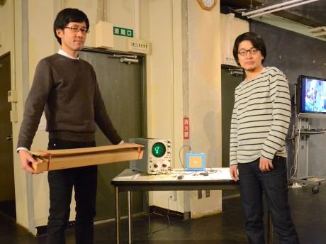 金子智太郎さん(左)と城一裕さん(右)