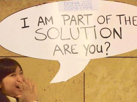国連気候変動枠組条約第20回締約国会議(COP20)に参加した長澤薫さん