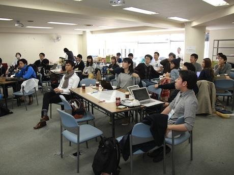 2014年11月に開催された第2回Startup Weekend Yokohamaの様子