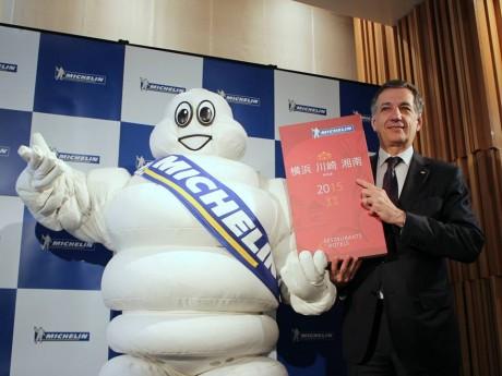 写真は日本ミシュランタイヤ代表取締役社長のベルナール・デルマスさん