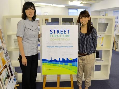 デザインコンペティション事務局の津田野恵さんと七原梓さん