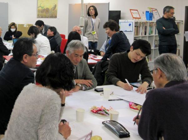 3月3日に慶應大学日吉キャンパス(横浜市港北区)で開催されたワークショップの様子