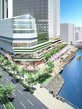 竹中・西松建設共同企業体が提案した「北仲橋からの近景外観パース」