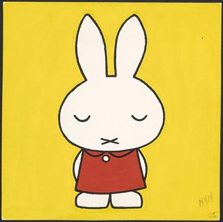 『ちいさなうさこちゃん』(第2版、1963年)原画IIIustrations Dick Bruna©copyright Mercis bv,1953-2016 www.miffy.com