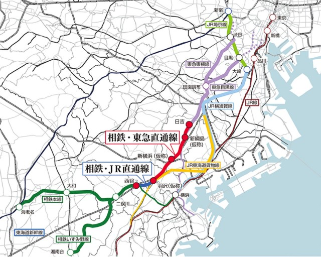 神奈川東部方面線(相鉄・JR直通線、相鉄・東急直通線)