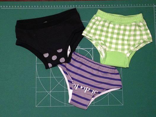 大人のTシャツなどで作られた子ども用の「パンツ」