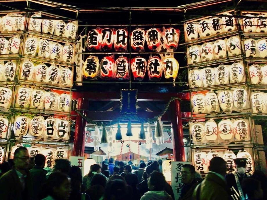 金刀比羅大鷲神社の酉の市の様子