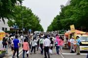 日本大通りで「tvk 秋じゃないけど収穫祭」 100ブースが出店