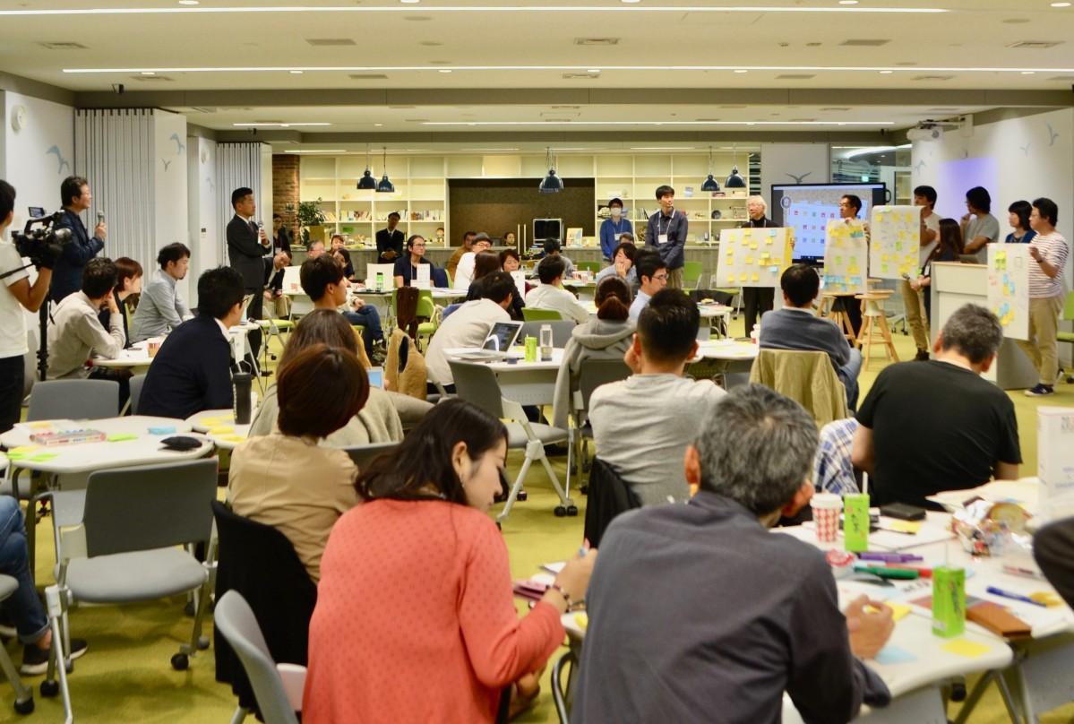 富士通エフサス みなとみらいInnovation&Future Centerで11日に開催されたワークショップの様子