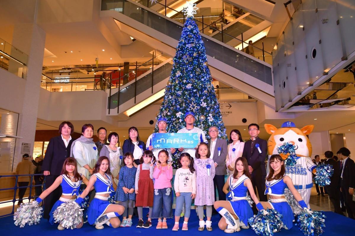 14日に開催された「Brilliant Blue Tree」の点灯式の様子