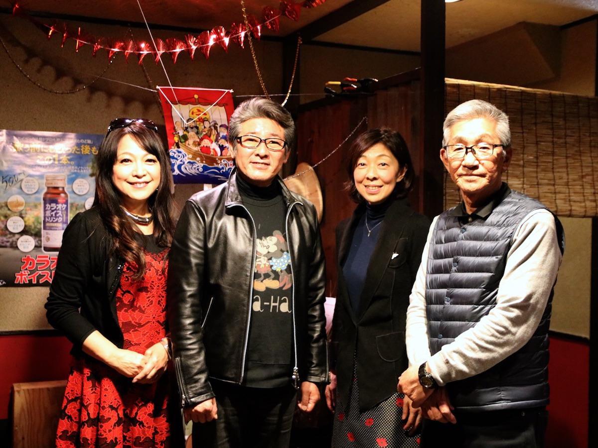 出演者の原めぐみさん、布川敏和さん、竹内晶子さん、市川徹監督