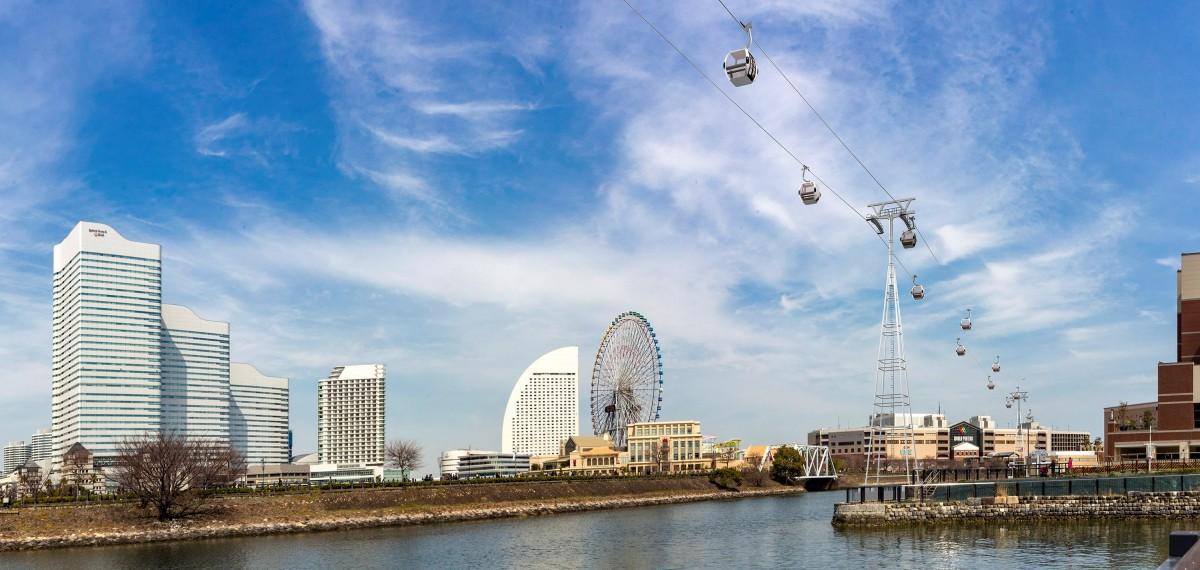 「YOKOHAMA AIR CABIN」(仮称)完成時の景観イメージ (横浜市提供)