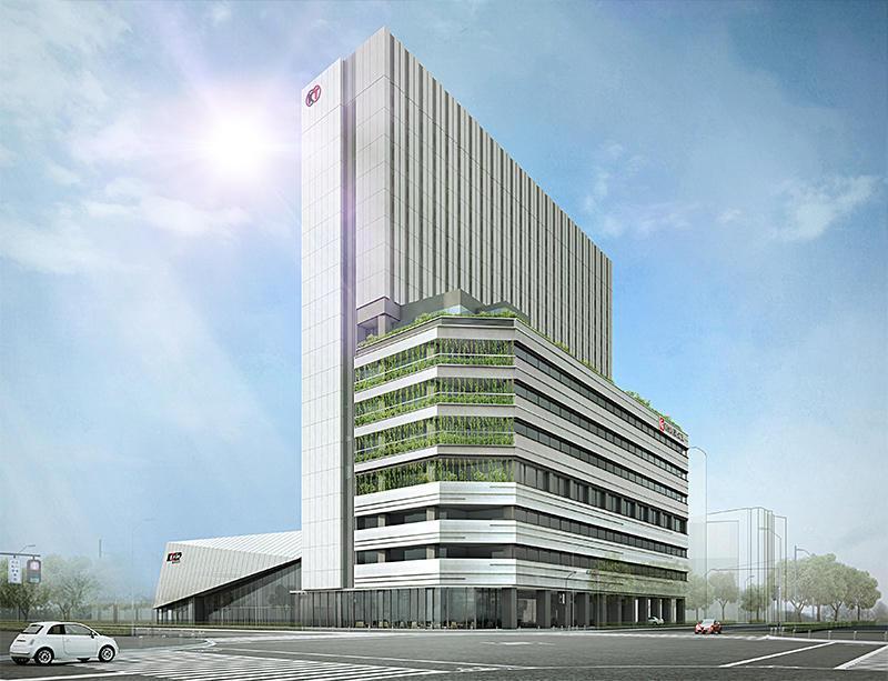 コーエーテクモゲームス本社、横浜東急REIホテル、KT Zepp Yokohamaが入るKTビル