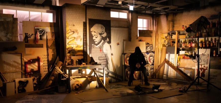 ロシアの会社IQ ART MANAGEMENT CORPが企画製作したコレクション展。展示テーマは以下の7つ。CONSUMPTION(消費)・POLITICS(政治)・POLICE(警官)・PROTEST(抗議)・WAR(戦争)・LIFE AND DEATH OF ART(バンクシーアートの生と死)・HOPE(平和)