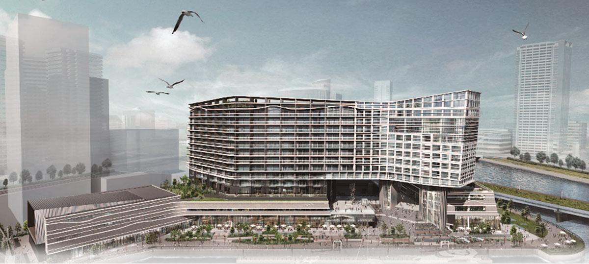 みなとみらい21中央地区62街区に建設予定の新施設(イメージ)