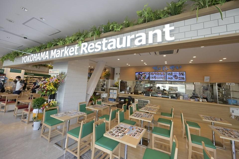 横浜中央卸売市場から素材を仕入れる和食洋食の「横浜市場食堂」、和食は横浜市中央卸売市場本場内で海鮮料理店を営む「かねせい」が協力