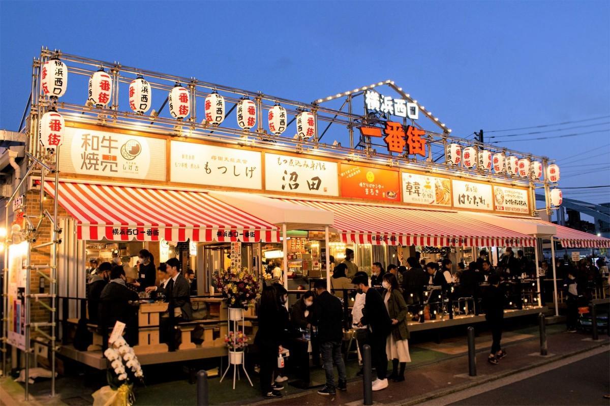 2020年9月末に閉店した「ポムポムプリンカフェ横浜店」の跡地に居酒屋横丁が誕生