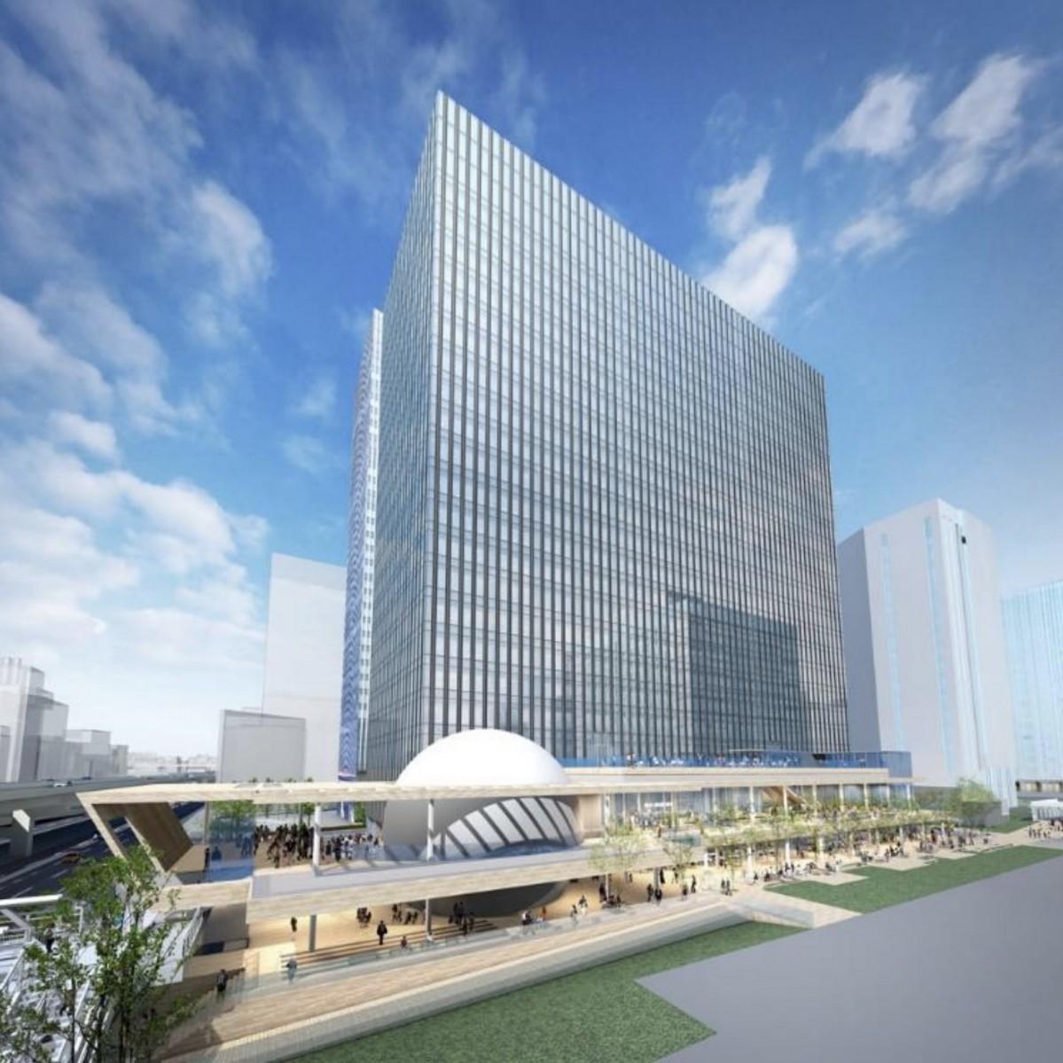 「横濱ゲートタワー」完成イメージ(出典:鹿島建設プレスリリース、2019年4月3日)